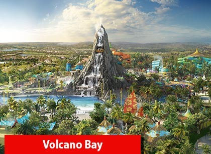UNIVERSAL - 03 Park Explorer Ticket com Volcano Bay (Ingresso de 14 dias)
